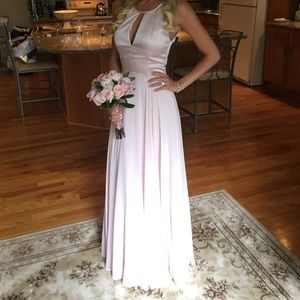 Pink/blush gown worn one time